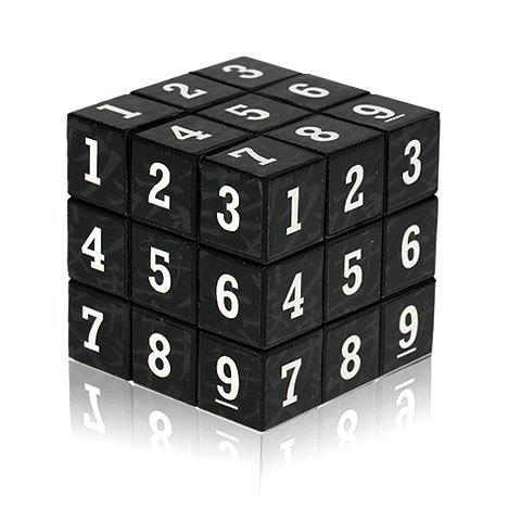 Fancy 3 x 3 x 3 Small Arabic Numbers Brain Teaser Magic IQ Cube Puzzle Toy