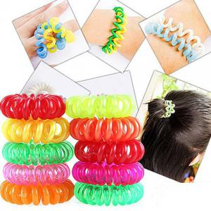 Magic and Flexible Waterproof Gal's Hair Bands 8 PCS / Pack - Colormix
