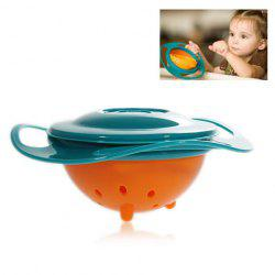 Amusing Rotary Gyro Style Mess-free Feeding Bowl with Grip and Lid