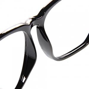 Stylish Plastic Square Optical Frames Cool Eyeglass Frame Decoration for Boy Girl (Black) -