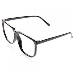 Stylish Plastic Square Optical Frames Cool Eyeglass Frame Decoration for Boy Girl (Black) - Coffee - Xl