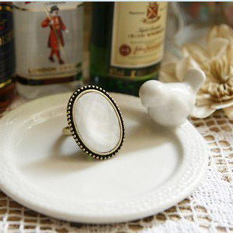 Chic Western Retro Style Simple Oval Shape Finger Ring