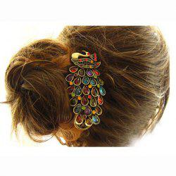 Vintage Style Elegant Peacock Shape Side Hairpin -