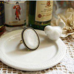 Western Retro Style Simple Oval Shape Finger Ring -