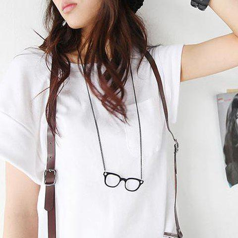 Fancy Fashionable Vintage Style Glasses Shape Necklace COLOR ASSORTED