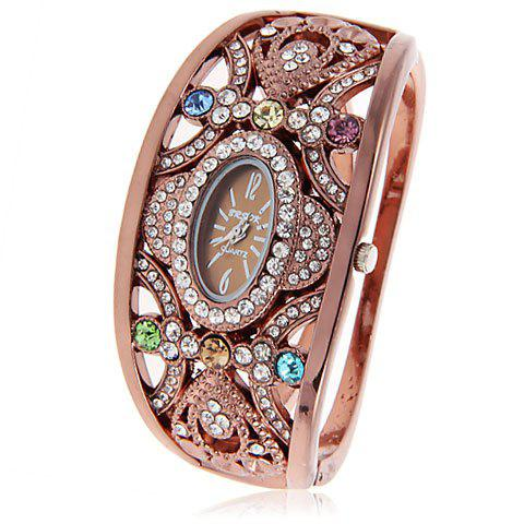 Buy Brsok 8037 Women Bracelet Wrist Watch with Rhinestone