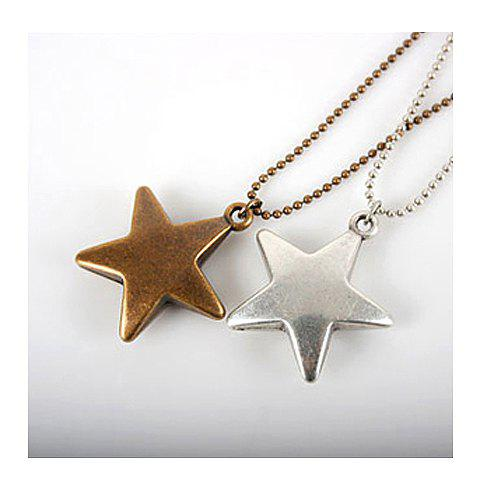 Chic Bronze Star Pendant Necklace