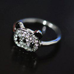Little Panda Rhinestone Embellished Ring -