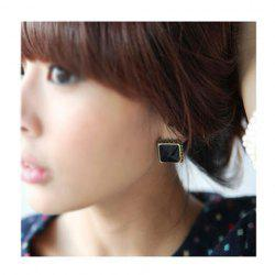 Square Shape Designed Faux Gem Earrings -