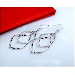 Boucles d'oreilles design Bicyclo-Wave -