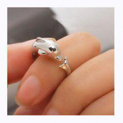 Fashionable Kore Stylish Dolphin Ring -