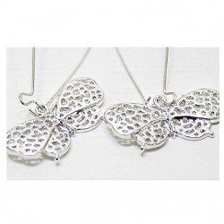 Korean Fashion Style Hollow Out and Bowknot Pattern Design Earrings -