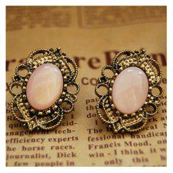 Western Retro Style Hollow out Rhinestone Earrings -