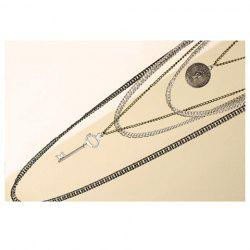 Fashion and Star Feel Style Multi-Strips Retro Feel Design Necklace -