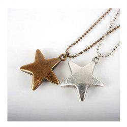 Bronze Star Pendant Necklace -
