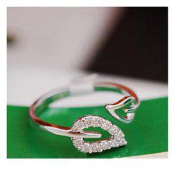 Laconic and Elegant Two Pieces of Leaves Design Rings For Female