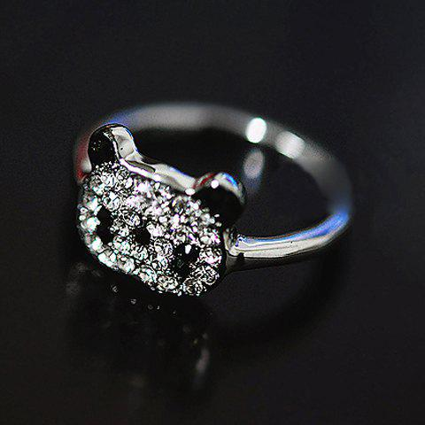 Outfits Little Panda Rhinestone Embellished Ring