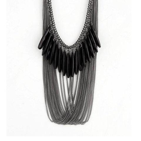 Chic Fashion and Unique Style Multi-tassels Decorated Necklace