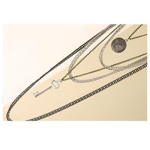 Chic Fashion and Star Feel Style Multi-Strips Retro Feel Design Necklace