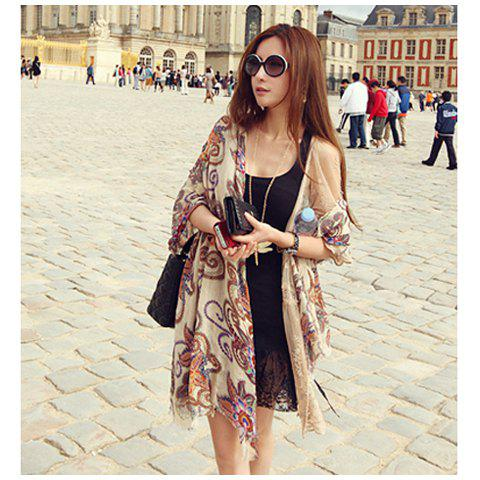 Store Retro Style Beautiful Totems Long Scarf For Women