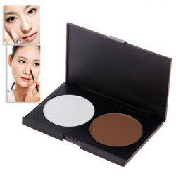 Excellent 2 Colors Charming Make-up Shading Powder Shadow Face Cosmetic Powder Kit -