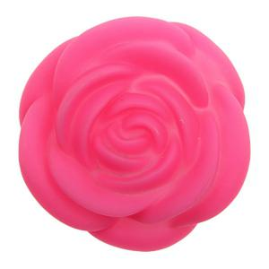 Seven Color Changing Light Rose Shape LED Small Night Light-Deep Pink -