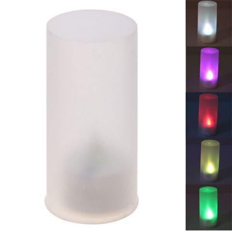 Fashion Seven Color Changing Light Candle Shape LED Small Night Light