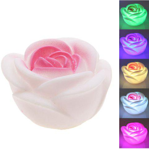 Seven Color Changing Light Rose Shape LED Small Night Light - Colormix