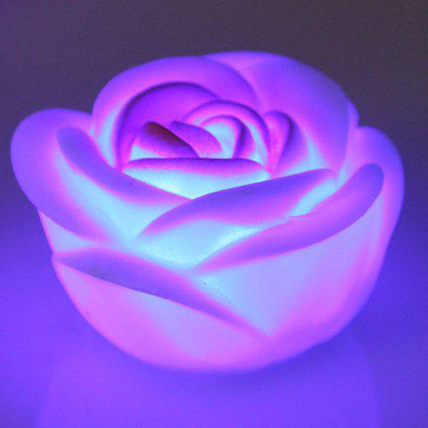 Affordable Seven Color Changing Light Rose Shape LED Small Night Light - COLORMIX  Mobile