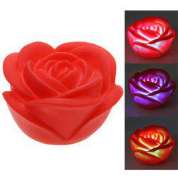 Seven Color Changing Light Rose Shape LED Small Night Light-Red