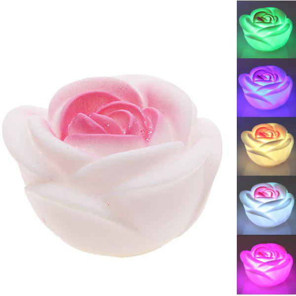 Seven Color Changing Light Rose Shape LED Small Night LightHOME<br><br>Color: COLORMIX;