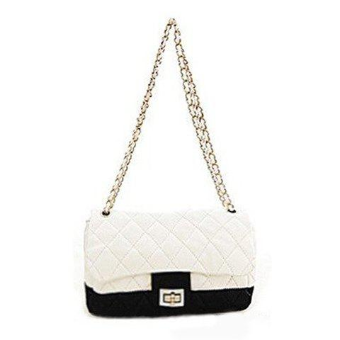 Discount Delicate Agraffe and Zipper Design One-Shoulder Bag For Female