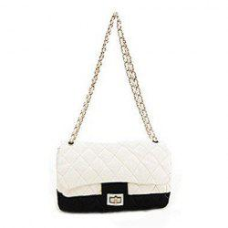Delicate Agraffe and Zipper Design One-Shoulder Bag For Female -