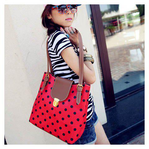 Cheap New Arrival Dot Printed and Snap Fastener Design One-Shoulder Bag For Female