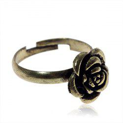 Fashionable Stylish Size Variable Gold-filled Rose Shaped Ring - Golden