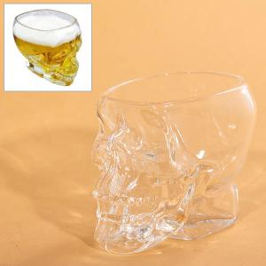 Mini Fancy Crystal Skull Transparent Glass Cup -