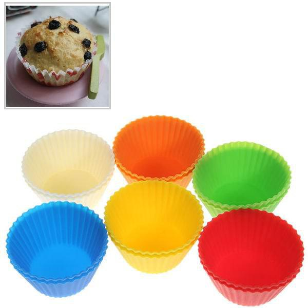 12PCS Colorful Silicone Muffins Cup Cake ModelHOME<br><br>