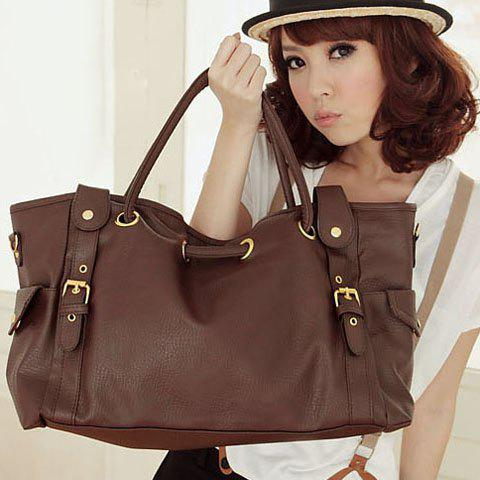 Cheap Korean Style Lady Synthetic Leather Handbag Shoulder Bag