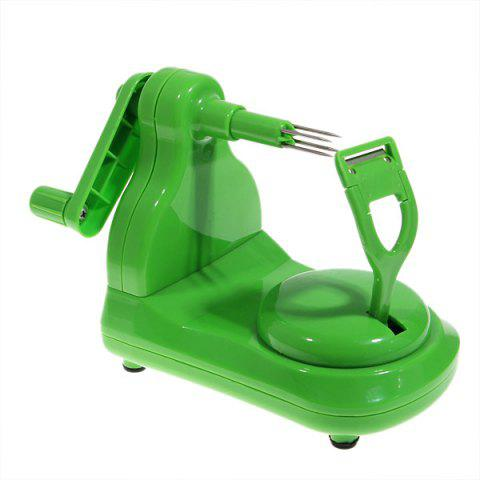 Outfit Portable Fruit Apple Peeler with Stainless Blade - Green