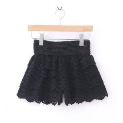 New Arrival Layered Crochet Lace Shorts For Women -