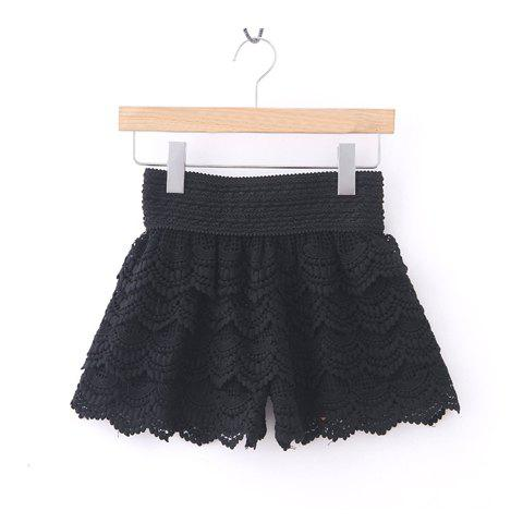 Outfits New Arrival Layered Crochet Lace Shorts For Women