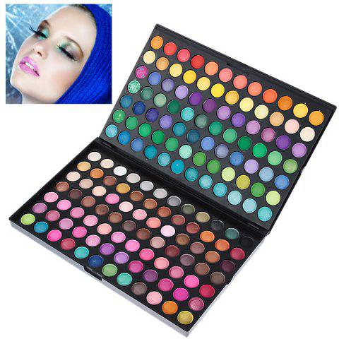 Fashion Professional Cosmetic 168 Colors Eye Shadows Palette with Rectangle Box -   Mobile