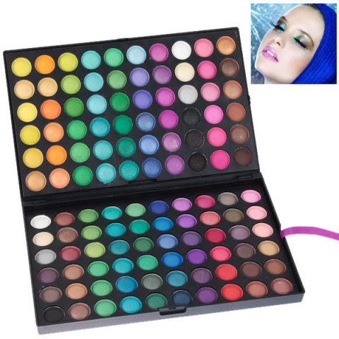 New NO.02 Professional Cosmetic 120 Colors Eye Shadows Palette with Rectangle Box