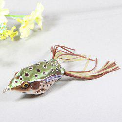 1pcs Durable Frog Shaped Fishing Bait with 2 Hooks for Fishing Lovers