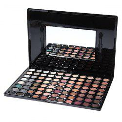 88P02 Professional Cosmetic 88 Colors Eye Shadows Palette with Mirror and 2 Applicators Inside - COLORMIX