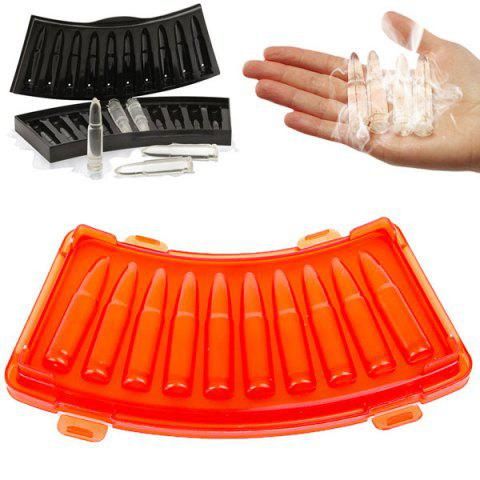 Buy Interesting Orange Bullet Shaped Ice Mould Ice Cube Maker Tray