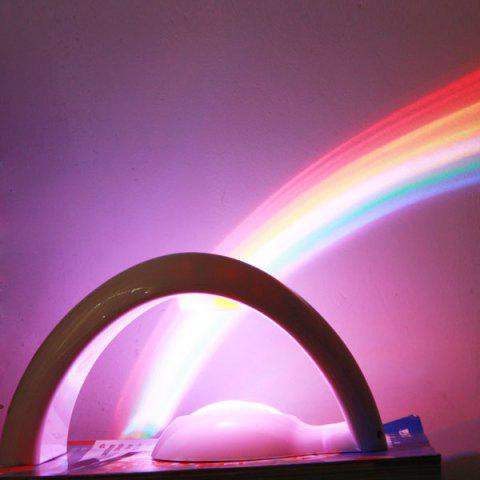Novel Bridge Design Projector Projection Lamp Lucky Rainbow Colorful Light -