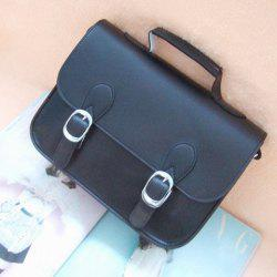 Vintage PU Women's Slanting Bag With Buckle and Covered Design -