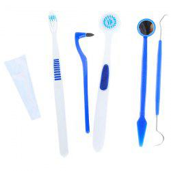 Tooth Brush Dental Mirror & Dental Floss Oral Mouth Tongue Health Care Kit Set -