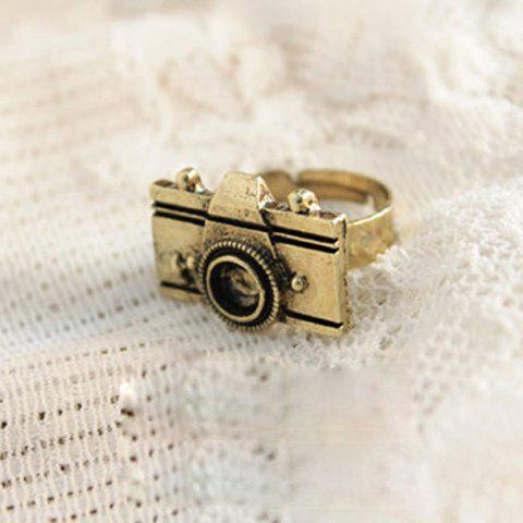 Latest Camera Shape Embellished Ring